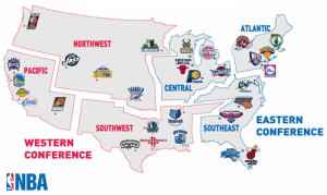 Map NBA teams